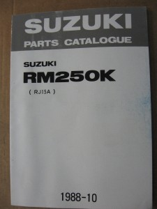 Suzuki origineel parts catalog / manual  uit 1988	RM125K – 1988		9900B-28024