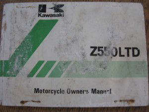 kawasaki owners manual 1981	z550ltd kz550 c3		99922-1162-01	engels